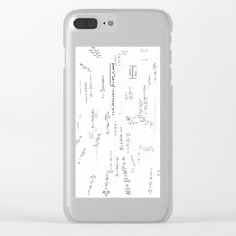 Mathspace - High Math Inspiration - Inverted Color Clear iPhone Case