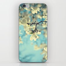 white magnolia iPhone & iPod Skin