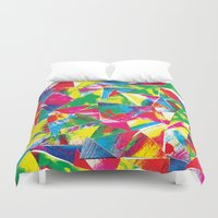rave Duvet Covers featuring Rave Paint by Mariah Williams