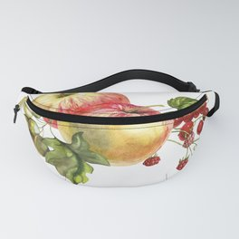 Fruit on a white background. Apples, red currants, grapes. Fanny Pack