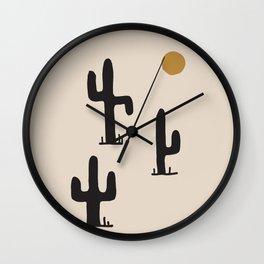 saguaro silent disco Wall Clock
