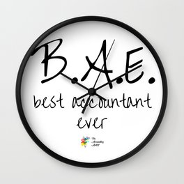 Best Accountant Ever BAE Wall Clock