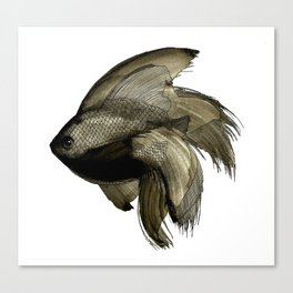 Deep water Fish Canvas Print