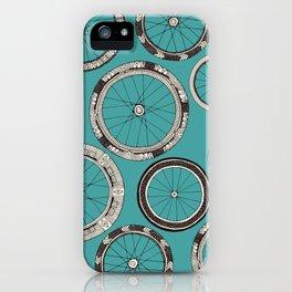bike wheels turquoise iPhone Case