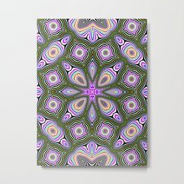Candy mint pattern Metal Print