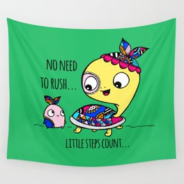 """""""Little Steps Count"""" / Turtle and His Friend Wall Tapestry"""
