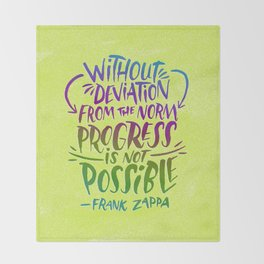 Frank Zappa on Progress Throw Blanket