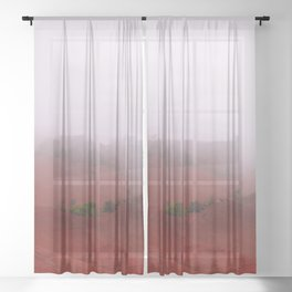 Red Land Sheer Curtain