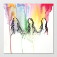 haim Canvas Prints featuring Haim by ana marta huffstot