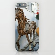 Wood horse iPhone 6s Slim Case