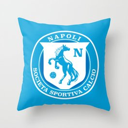Naples Horse Football badge Throw Pillow