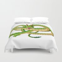 dragon ball z Duvet Covers featuring Shenron Dragon ball by OverClocked