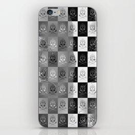 Branching Into Darkness: Bitter Techno Skulls-Checkers iPhone Skin