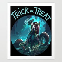 Trick or Treat - Captain's treasure Art Print
