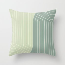 Two Tone Line Curvature XXX Throw Pillow