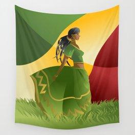 african rastafarian girl Wall Tapestry