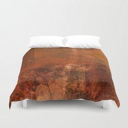 Organic rust Duvet Cover