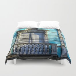 Blue House Duvet Cover