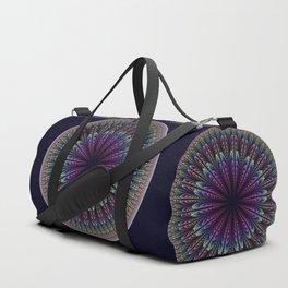 Floral mandala with tribal patterns Duffle Bag