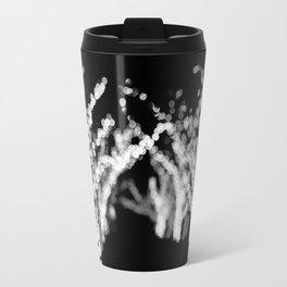 Twinkle Lights - Holiday Lights in Black and White Travel Mug