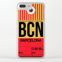 BCN Barcelona Luggage Tag 1 Clear iPhone Case