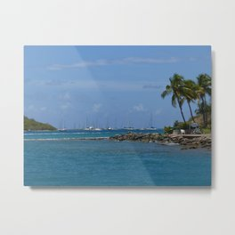 Saint Thomas Blue Metal Print