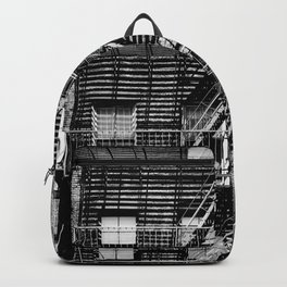 Fire escapes at noon Backpack
