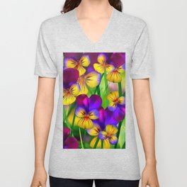 Flourish bright Unisex V-Neck