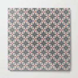 Blue & Red Geometric - Tiny Arrows Leaves Metal Print