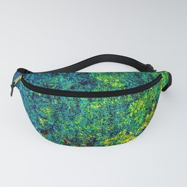 Abstract Flowers Yellow And Green Fanny Pack