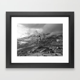 Awesome Nature Nude Hike Framed Art Print