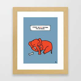 Do not disturb the artwork. Framed Art Print