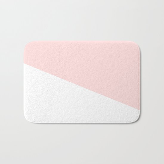 Urban Geometry Perfect Pink + White Bath Mat