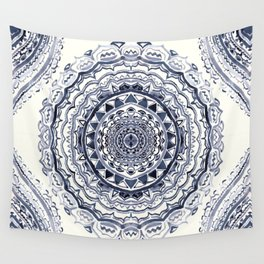Supernova-In Navy, Dark Blue, & Grey Wall Tapestry