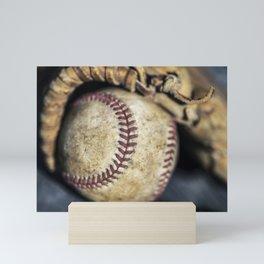 Baseball and Glove 1 Mini Art Print
