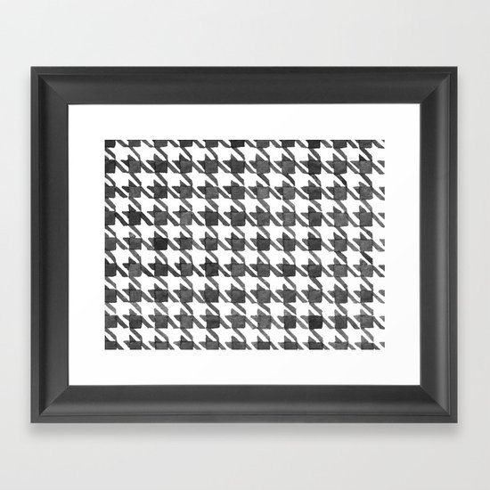 Houndstooth II Framed Art Print