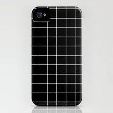 Black White Grid iPhone (4, 4s) Slim Case