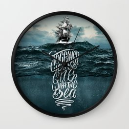 One With The Sea Wall Clock