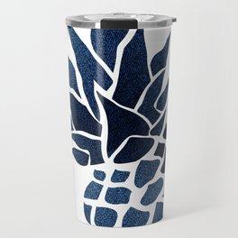 Pineapple, Big Blue, Denim Navy Travel Mug