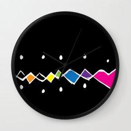 Rainbow Argyle Funk Wall Clock