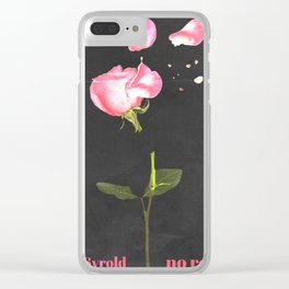 No romance Clear iPhone Case