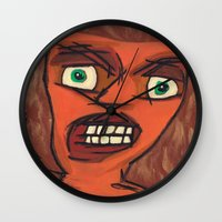 lawyer Wall Clocks featuring Sour Strawberries by Mister Groom