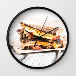 Grilled Cheese with Bacon Wall Clock