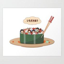 Yokai Sushi Art Print