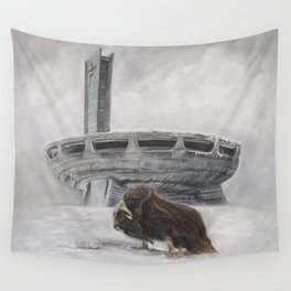The Lone Musk Ox Wall Tapestry