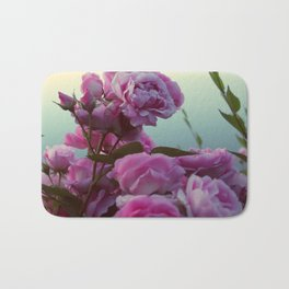 Roses by the lake #society6 Bath Mat