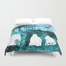 Double Exposure Wolf / Full Moon Wolves / Dark Forest Witch / Galaxy Space Wolf Duvet Cover
