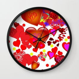 Infinity of love Wall Clock