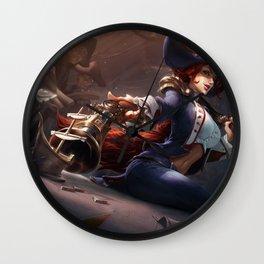 Waterloo Miss Fortune Splash Art Wallpaper Background Official Art Artwork League of Legends Wall Clock