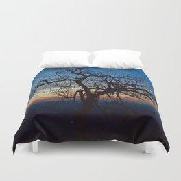 Mountain Tree at Dawn Duvet Cover